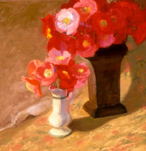 Shirley Poppies in vases.jpg (71664 bytes)