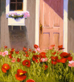 cottage door poppies 2311.jpg (205166 bytes)